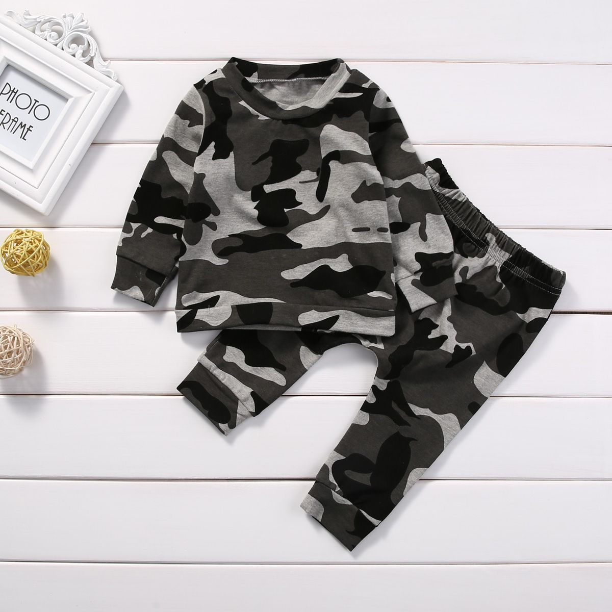 6a2c2d01b5b5f Cool 2pcs new baby clothing set Toddler Infant Camouflage Baby Boy Girl  Clothes T-shirt Tops+Pants Outfits Set - $15.09 - Buy it Now!
