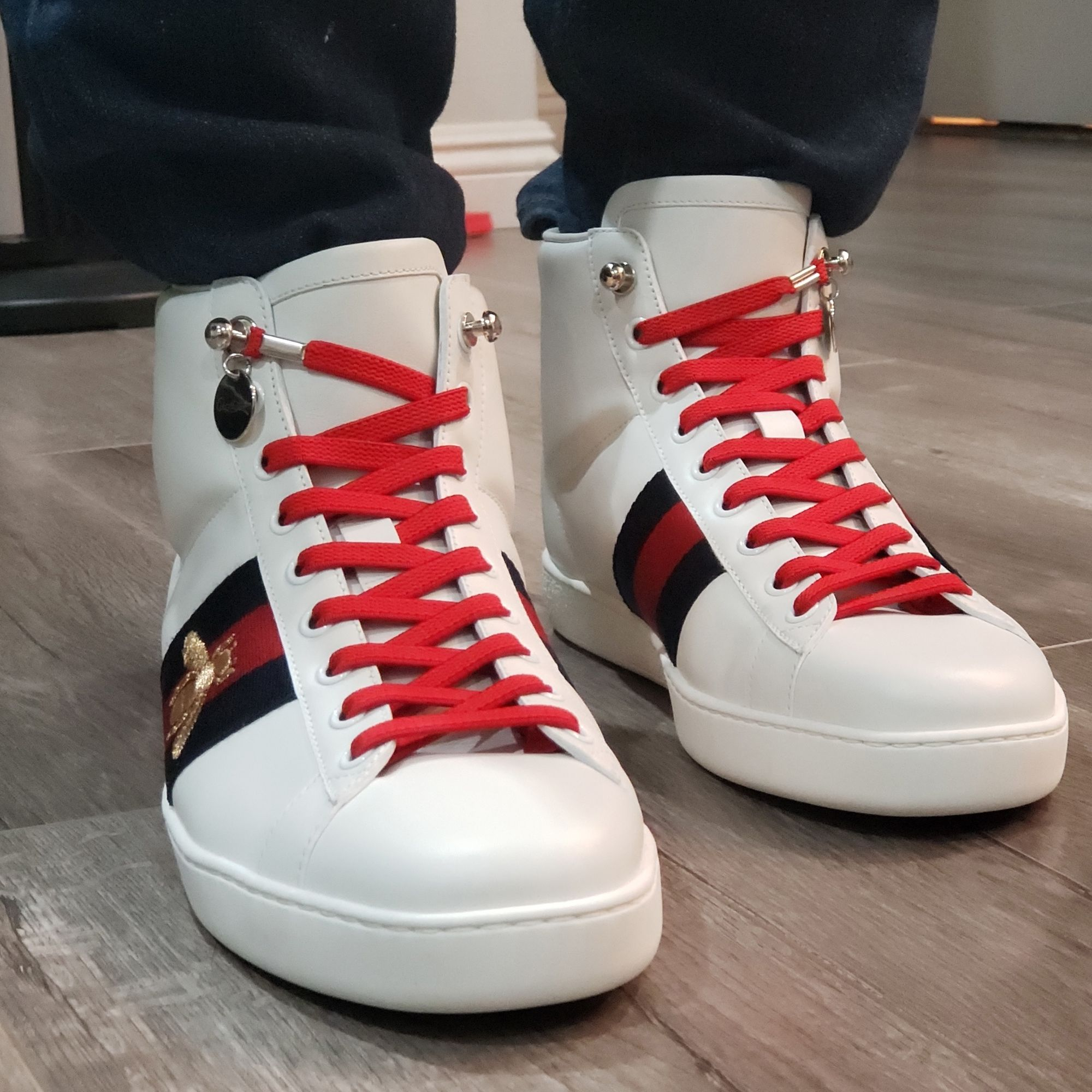 No Tie Shoelaces on Gucci high top