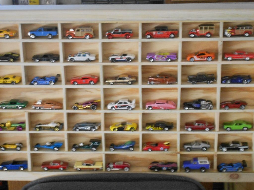 Hand made  hot wheel display case.