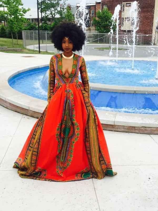 This Girl's Gorgeous Handmade Prom Dress Just Broke The Internet Kyemah McEntyre totally slayed prom.