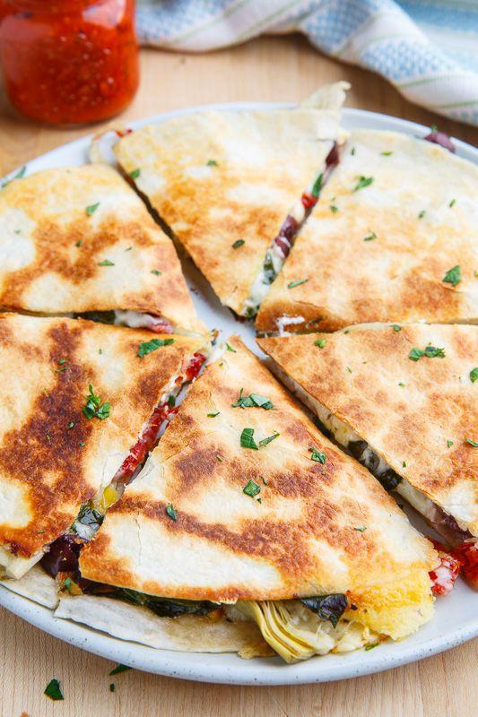 Mediterranean Quesadillas - Closet Cooking