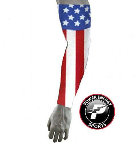aa6c944d71 Amazon.com: Sports Titanium Baseball Compression Arm Sleeve (American Flag  USA) Med: Jewelry
