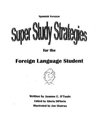 Super Study Strategies for the Foreign Language Student