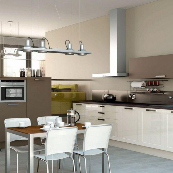 Küche Weiß Braun. das saftige rot von fliesen und kissen ...
