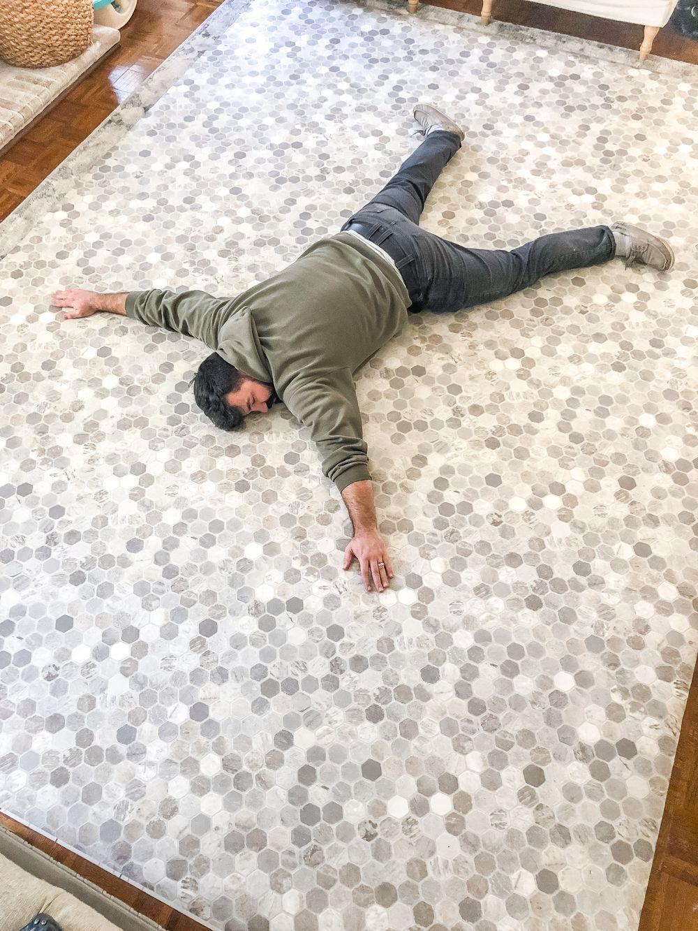 How to Install Sheet Vinyl Flooring Over Tile | Vinyl ...