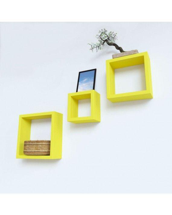 Buy Online Wall Decor Square Shelf on SilkRute | Floating Wall Shelf ...