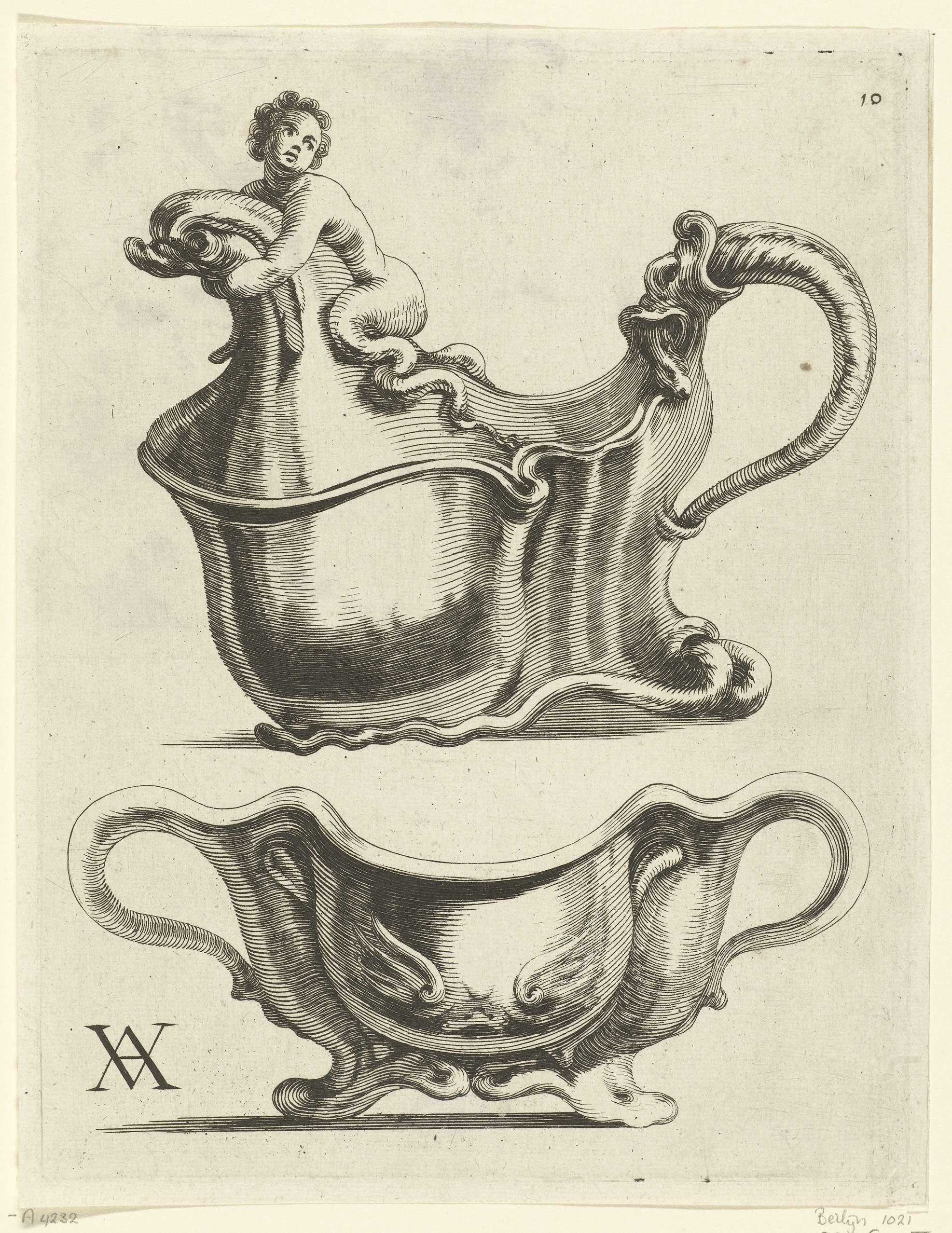 Twee kommen, Theodorus van Kessel, Christiaen van Vianen, Christiaen van  Vianen, ca. 1646 - ca. 1652
