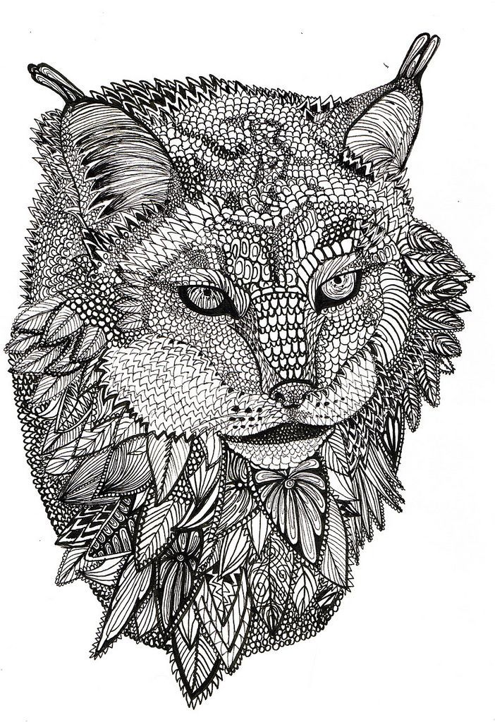 Animals coloring pages for adults to download and print ... | printable colouring pages for adults animals
