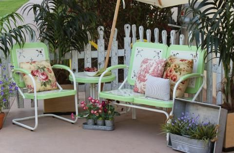 summerland vintage patio furniture mint town country event rh pinterest com Patio Lounge Chairs Swivel Patio Chairs