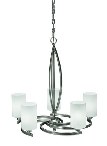 Tempe 5 Light 2075 Brushed Nickel Chandelier At Menards