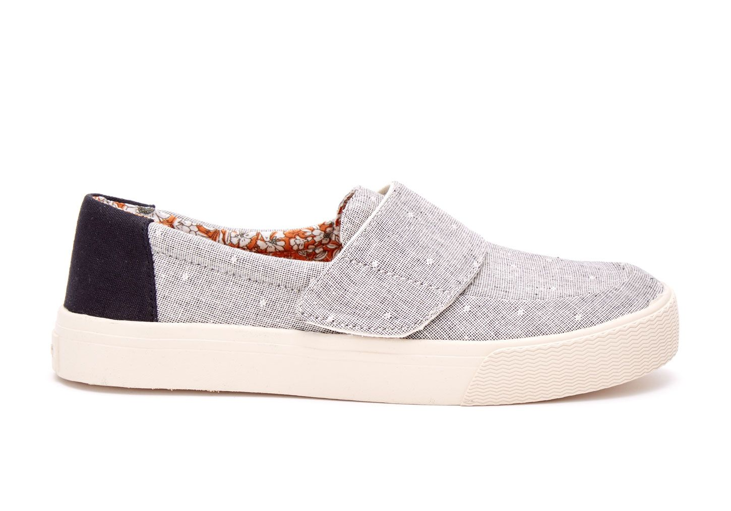1708b4b9e61 undefined Grey Chambray Dot Women s Altair Slip-Ons