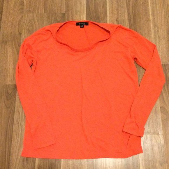 Orange shirt Orange long sleeve shirt Forever 21 Tops Tees - Long Sleeve