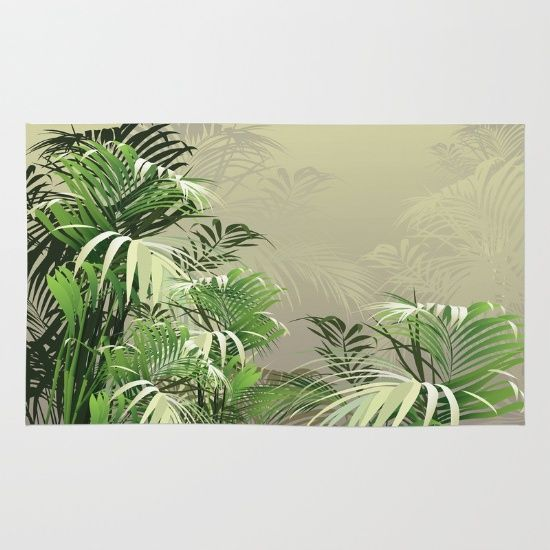 Society6 Product Faded Fronds Rugcuratormoodymuse