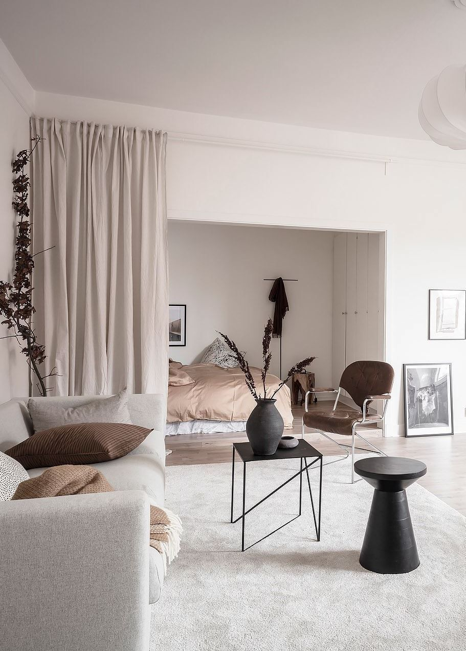 Combined Living Room And Bedroom Via Coco Lapine Design