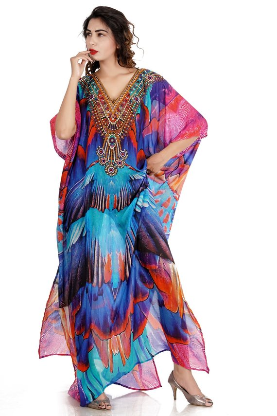 61ef11f4fb9 Beach kaftan dress for woman beaded beach wear one piece jeweled full  length kaftan  long kaftans l
