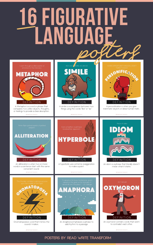 16 Figurative Langauge Posters Volume Ii