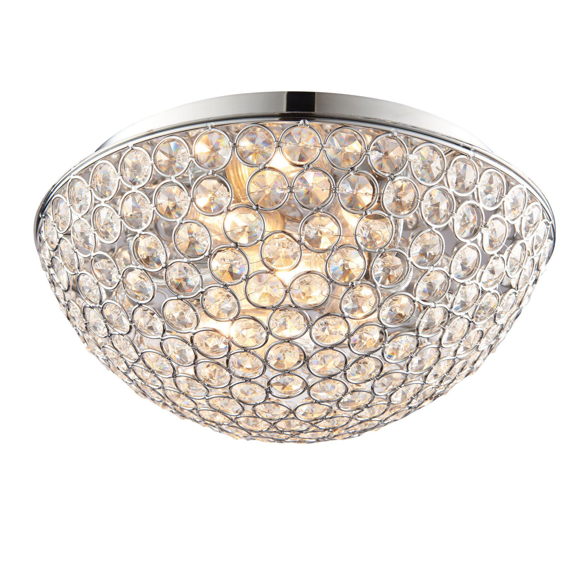 Endon Lighting Chryla 3 Light Flush Ceiling Reviews Wayfair Uk