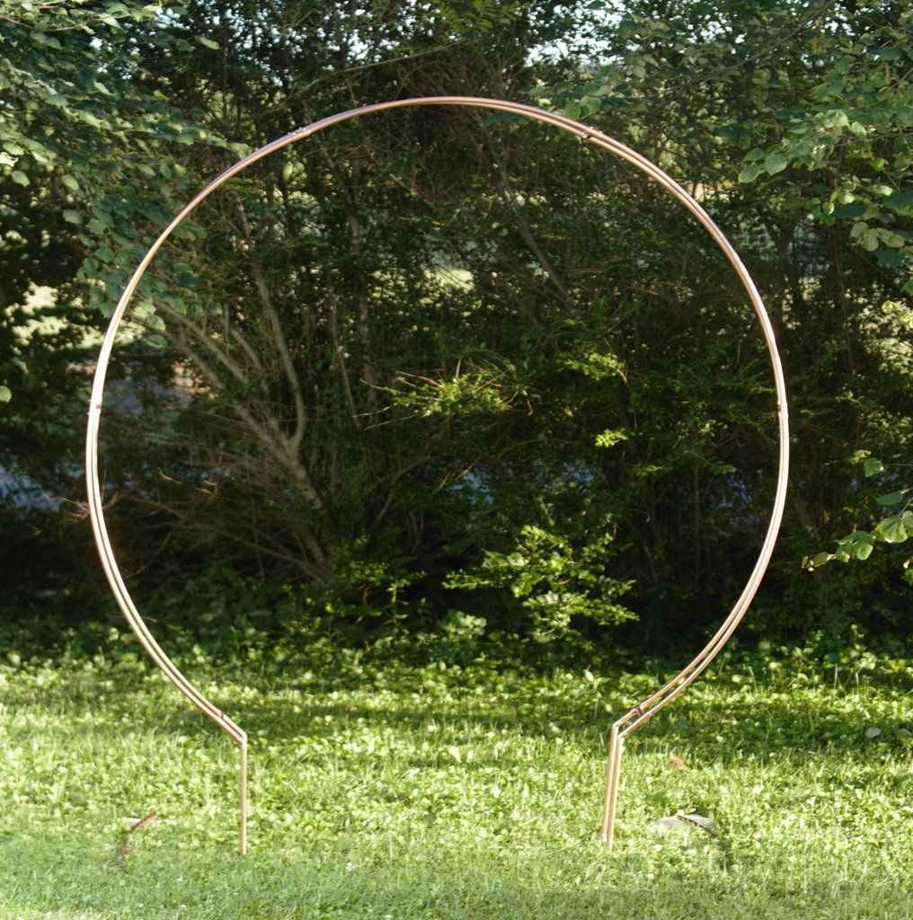 6ft round copper arch with images wedding arch arch