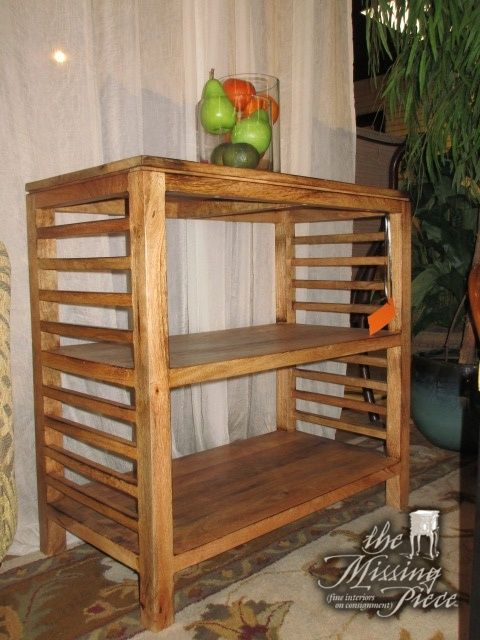 Small Rustic Wood Bookshelf In A Medium Finish There Are Two Shelves Great Size For Bedroom Measures 30wide X 16deep 30high