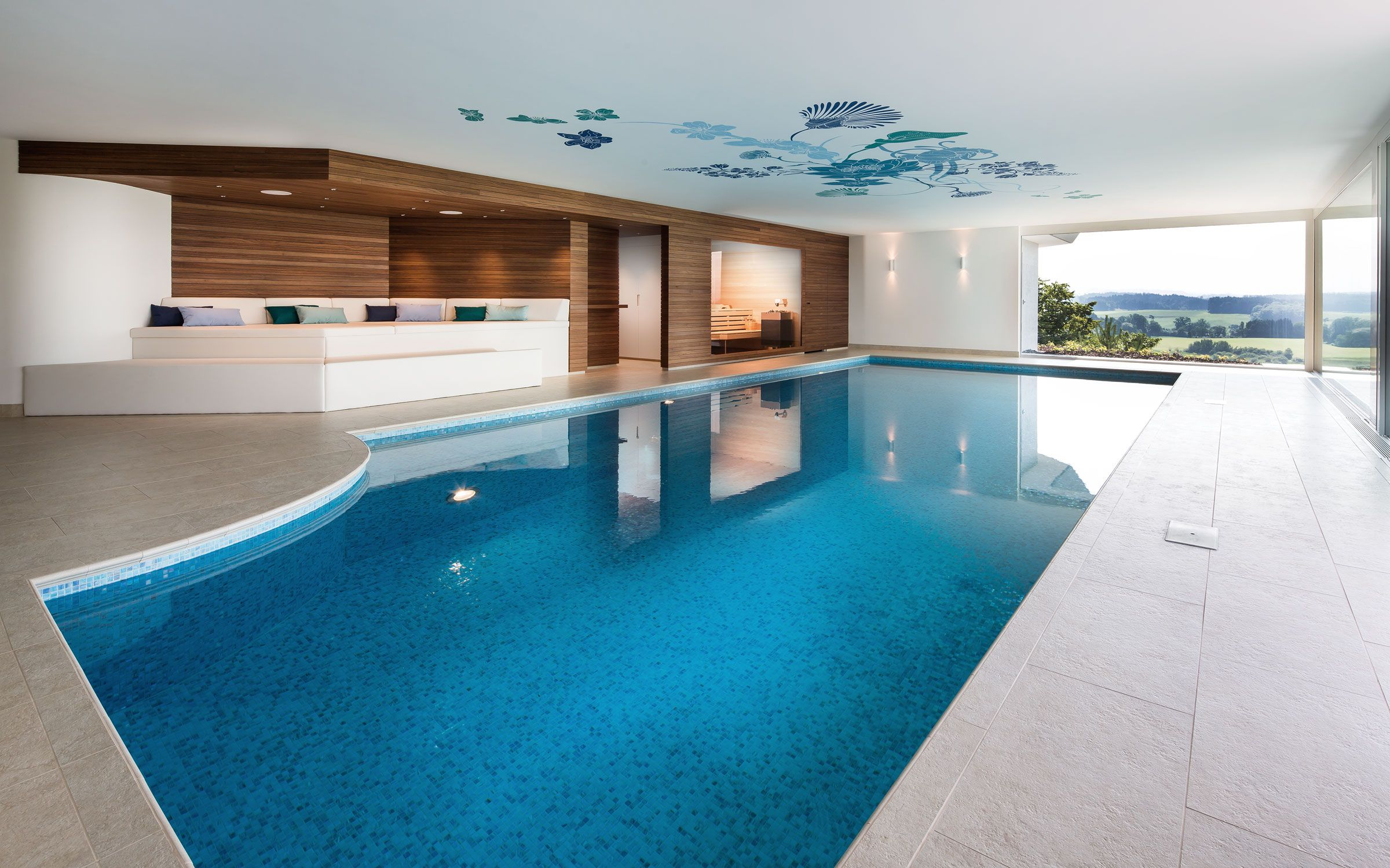 stunning indoor pool bauen traumhafte schwimmbaeder contemporary. Black Bedroom Furniture Sets. Home Design Ideas