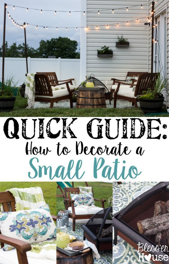 How to Decorate a Small Patio | Small patio and Concrete slab