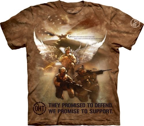 Looking for a new awesome graphic t-shirt? Try the Combat Soldiers T-Shirt on for size! Shop THE MOUNTAIN website for the largest and coolest selection of USA and Americana t-shirts online.