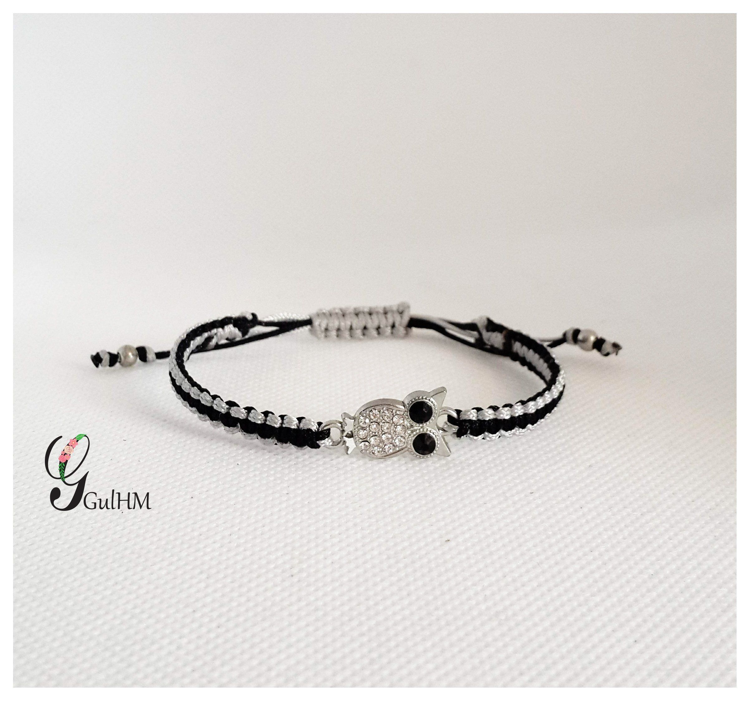 Owl braceletbracelet for womenmacrame braceletgift for womengift