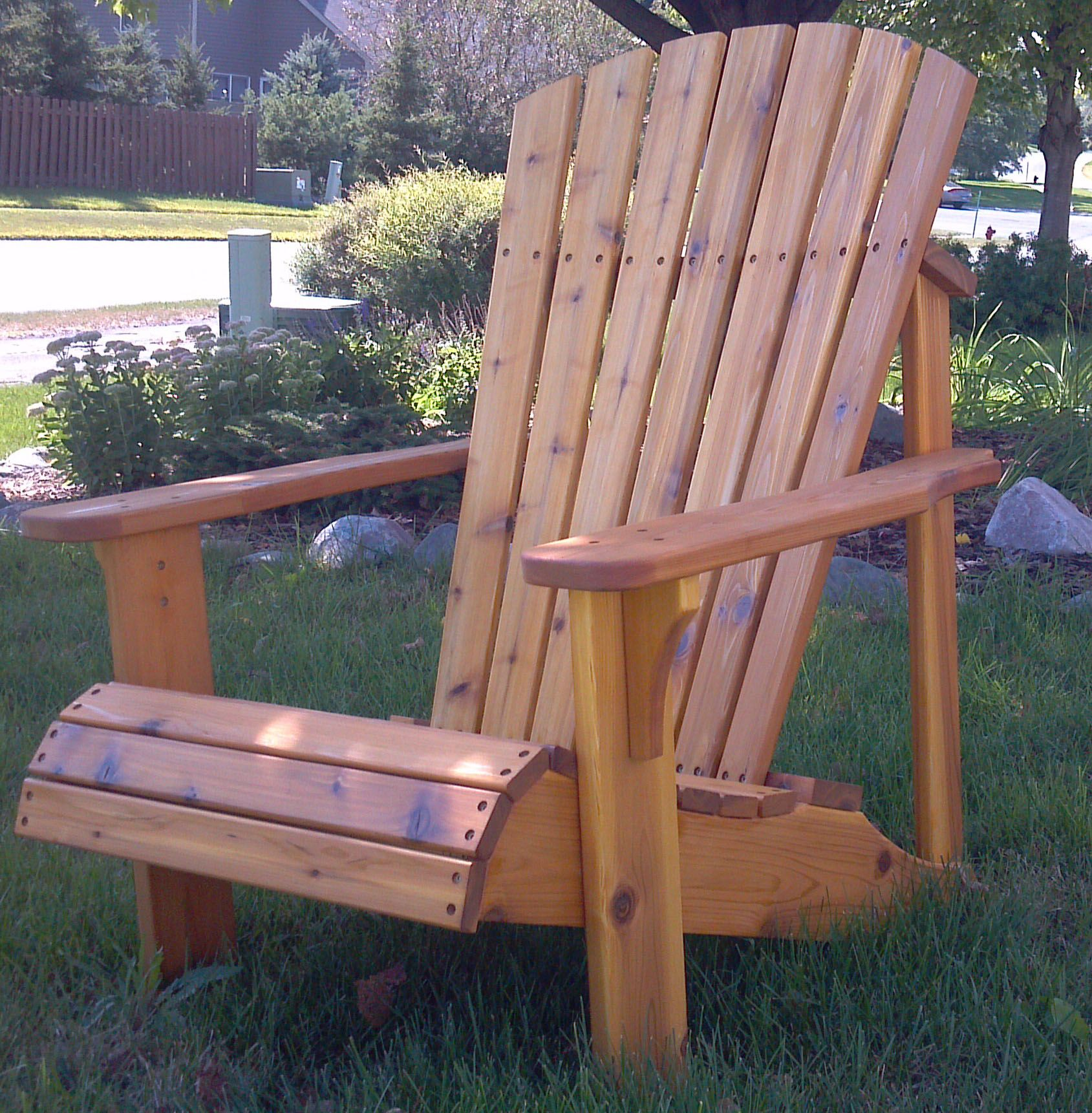 Cedar Adirondack Stained With Sikkens Natural Adirondack