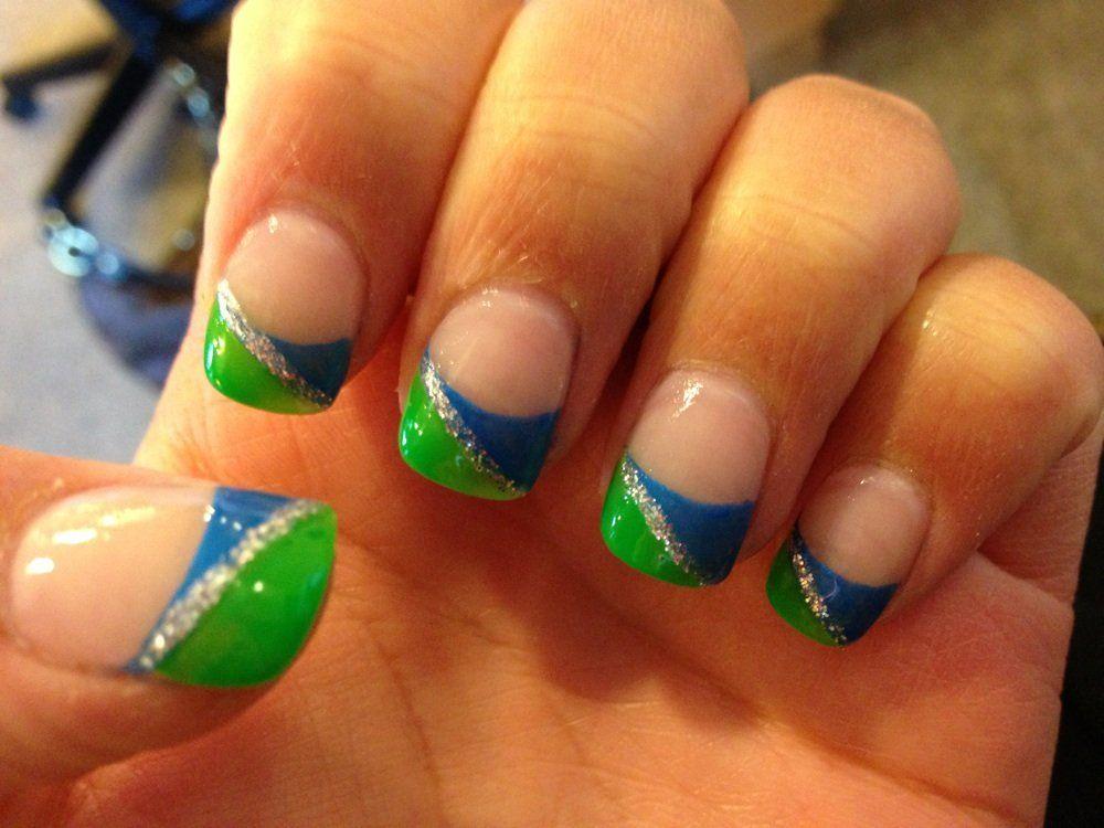 Ginas Nail Spa Kent Wa United States Seahawks Nails Go To