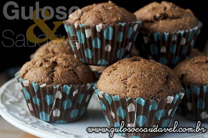 Receita de Muffins Integrais de Banana e Fibra de Trigo