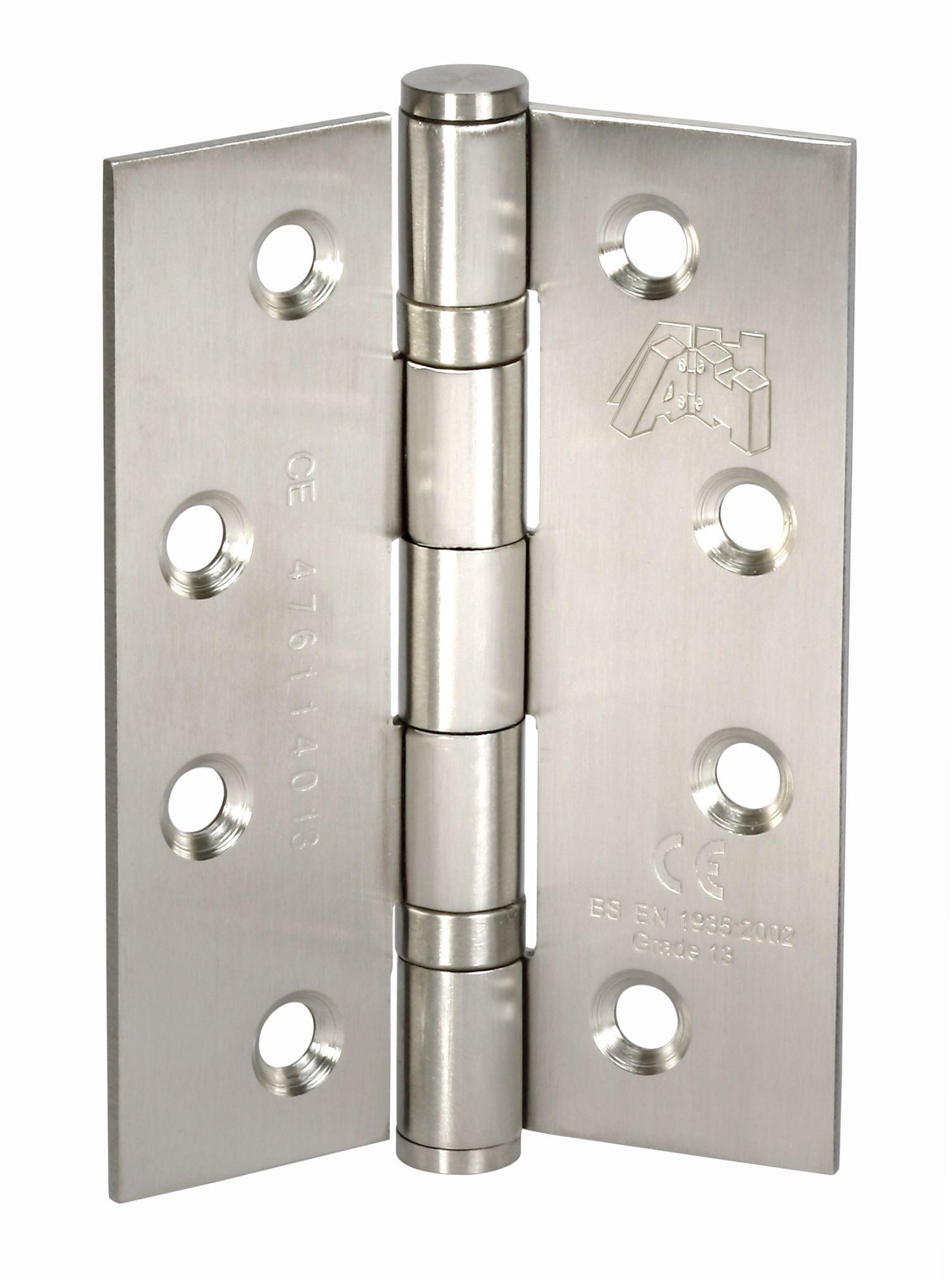 100mm Stainless Steel Front Door Hinge Pairs Ce Stamped H401 Hardware Stainless Steel Hinges Door Hinges
