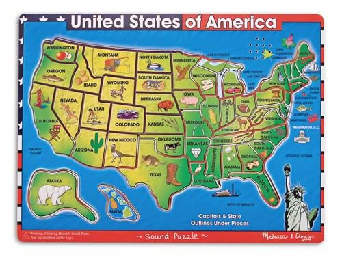 Worksheet. United States of America Sound Puzzle  40 Pieces  As each piece