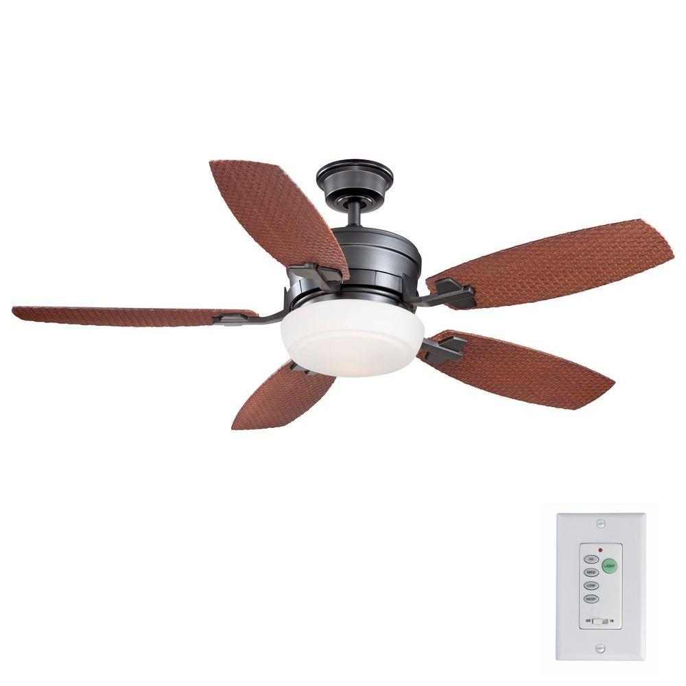 Home Decorators Collection Molique 54 In Indoor Outdoor Natural Iron Ceiling Fan With Light Kit And Wall Control Ceiling Fan Ceiling Outdoor Wicker Furniture
