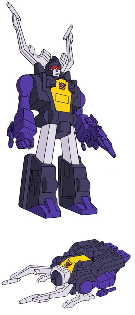 Transformers Generation 1 Cartoon Characters : Shrapnel insecticon transformers pinterest