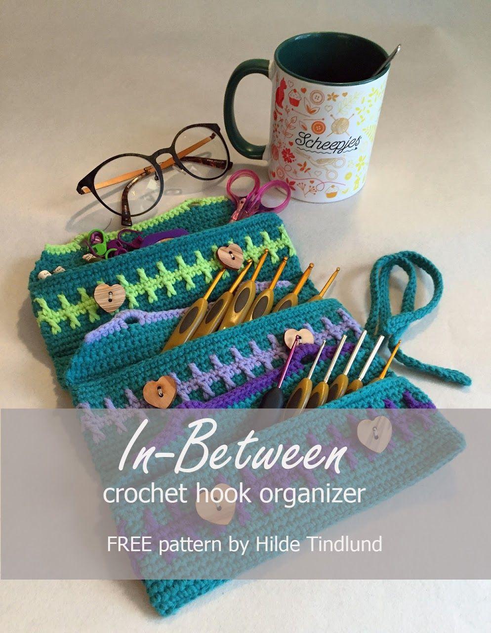 In Between Crochet Hook Organizer Free Crochet Pattern By Www
