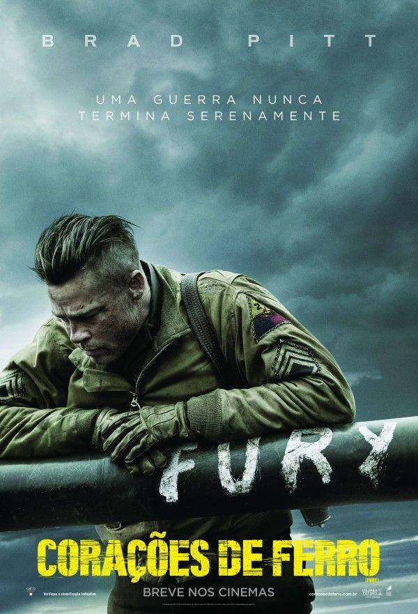 """Pôster nacional do filme """"Corações de Ferro"""" com Brad Pitt http://cinemabh.com/imagens/poster-nacional-do-filme-coracoes-de-ferro-com-brad-pitt"""