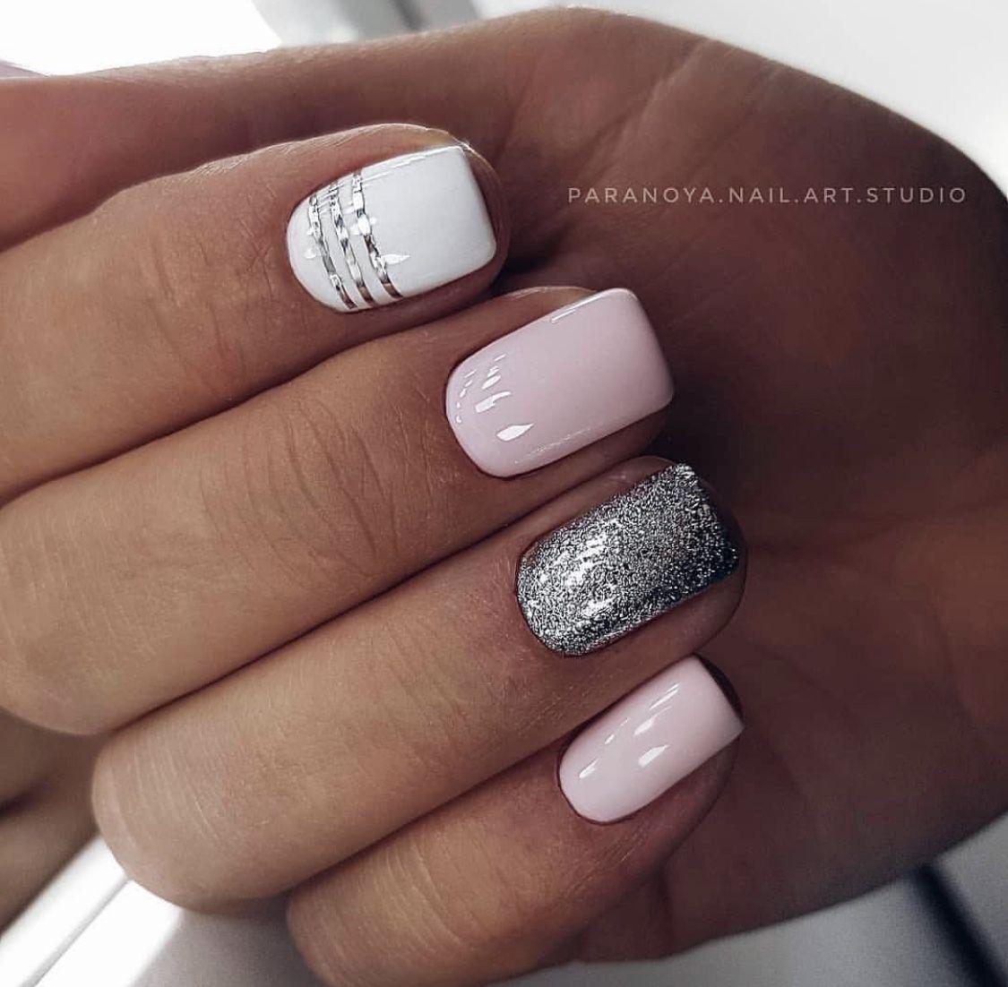 Pin By Svetlana On Nails Short Acrylic Nails Sparkle Nails Pink Nails