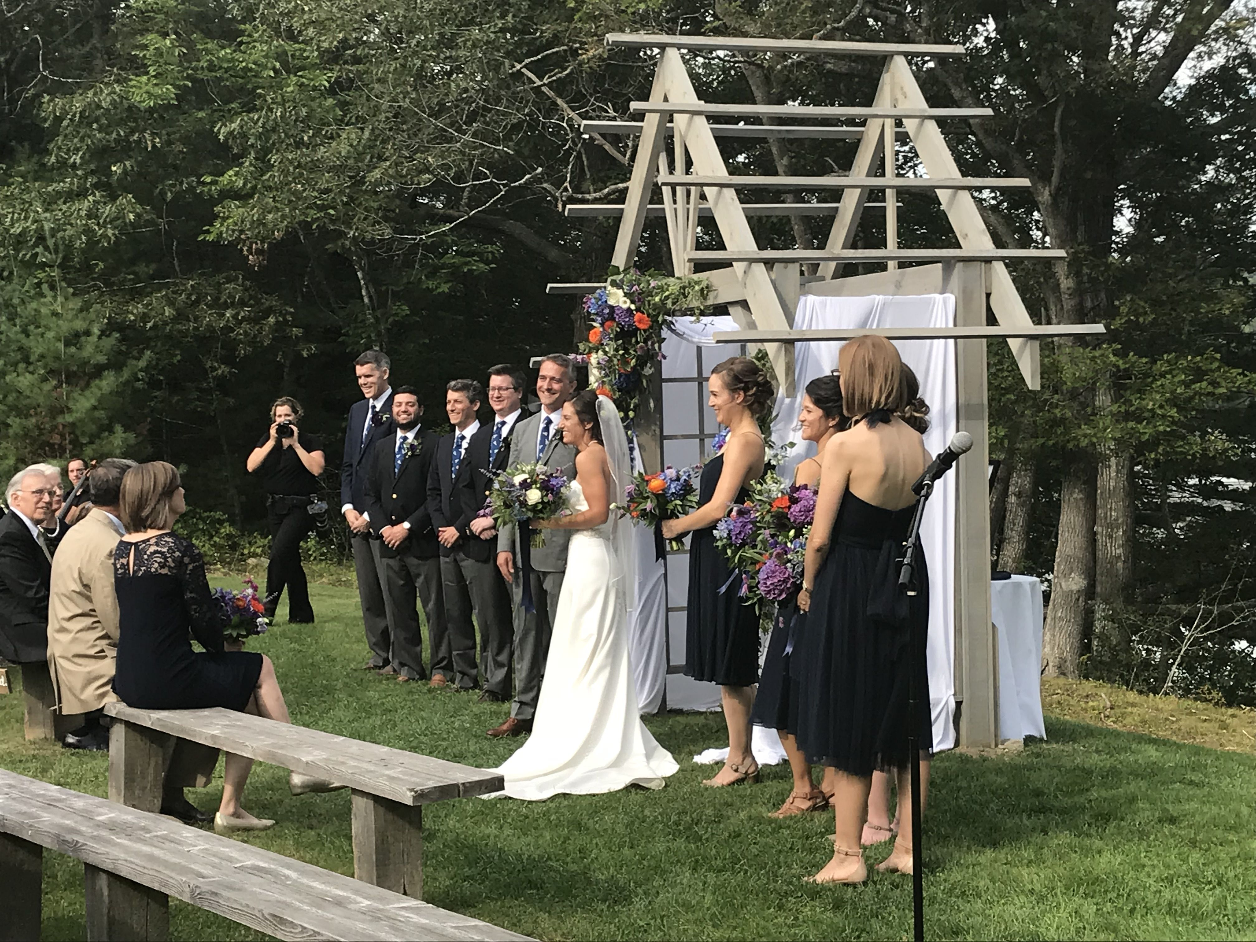 The Wedding Ceremony And Reception Of Elizabeth Inkellis And Christopher Langhammer Were Held At Marianmade Farm In W Maine Wedding Wedding Dj Wedding Ceremony