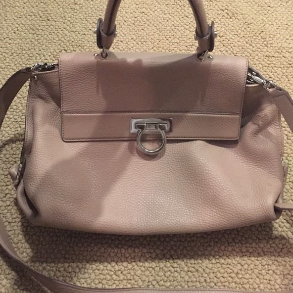 38c8b900cb8 Salvatore Ferragamo Sofia Small Satchel Retail  1850. Blush pink color.  This bag was barely