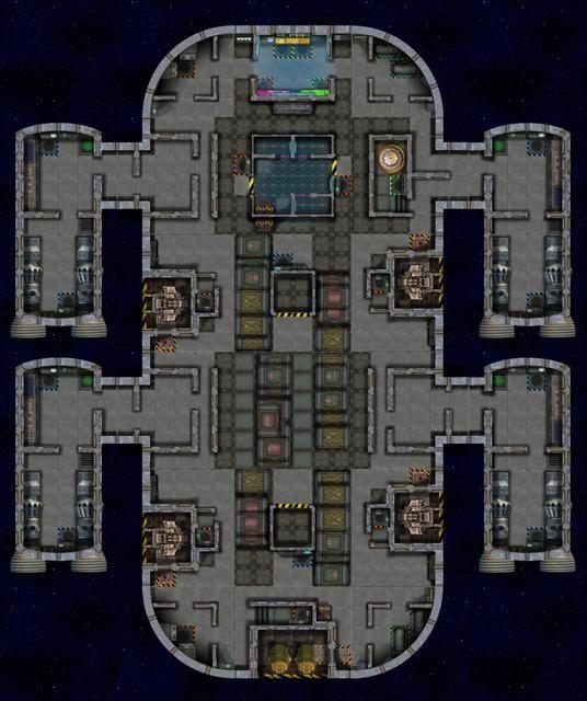 Spaceship Tileset Map B Pb002 Merchant Rpgmapshare Com