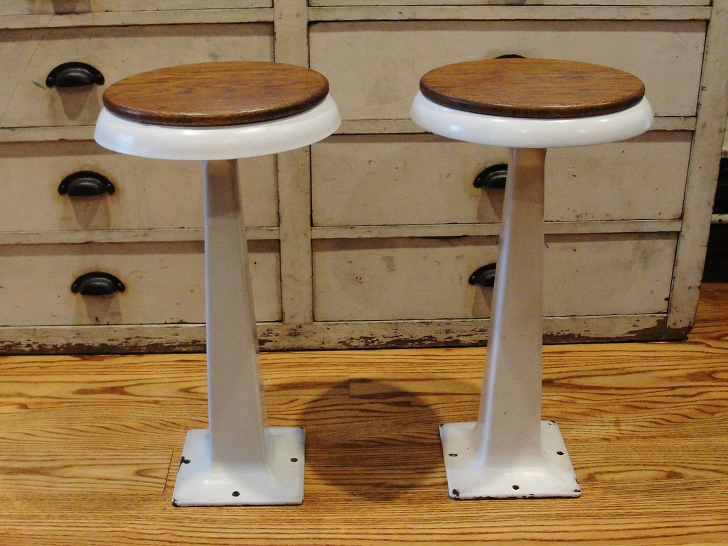 Super Vintage White Porcelain Ice Cream Soda Fountain Stools With Alphanode Cool Chair Designs And Ideas Alphanodeonline