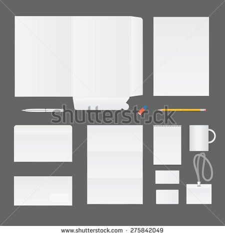 Company Corporate Template Set Of Stationery Elements  Folder