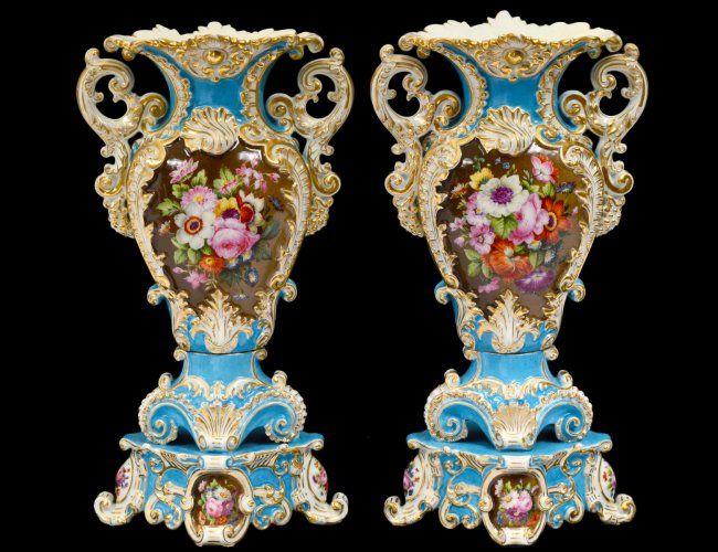 Pair of Jacob Petit Porcelain Potpourri Vases : Lot 131