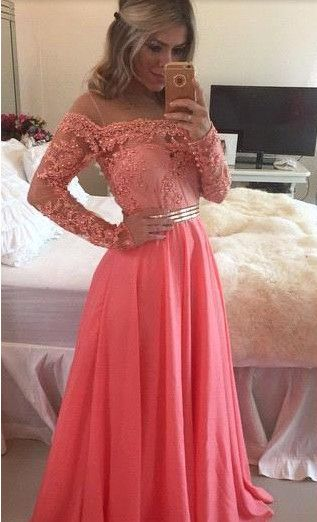 Red Prom Dress Pink