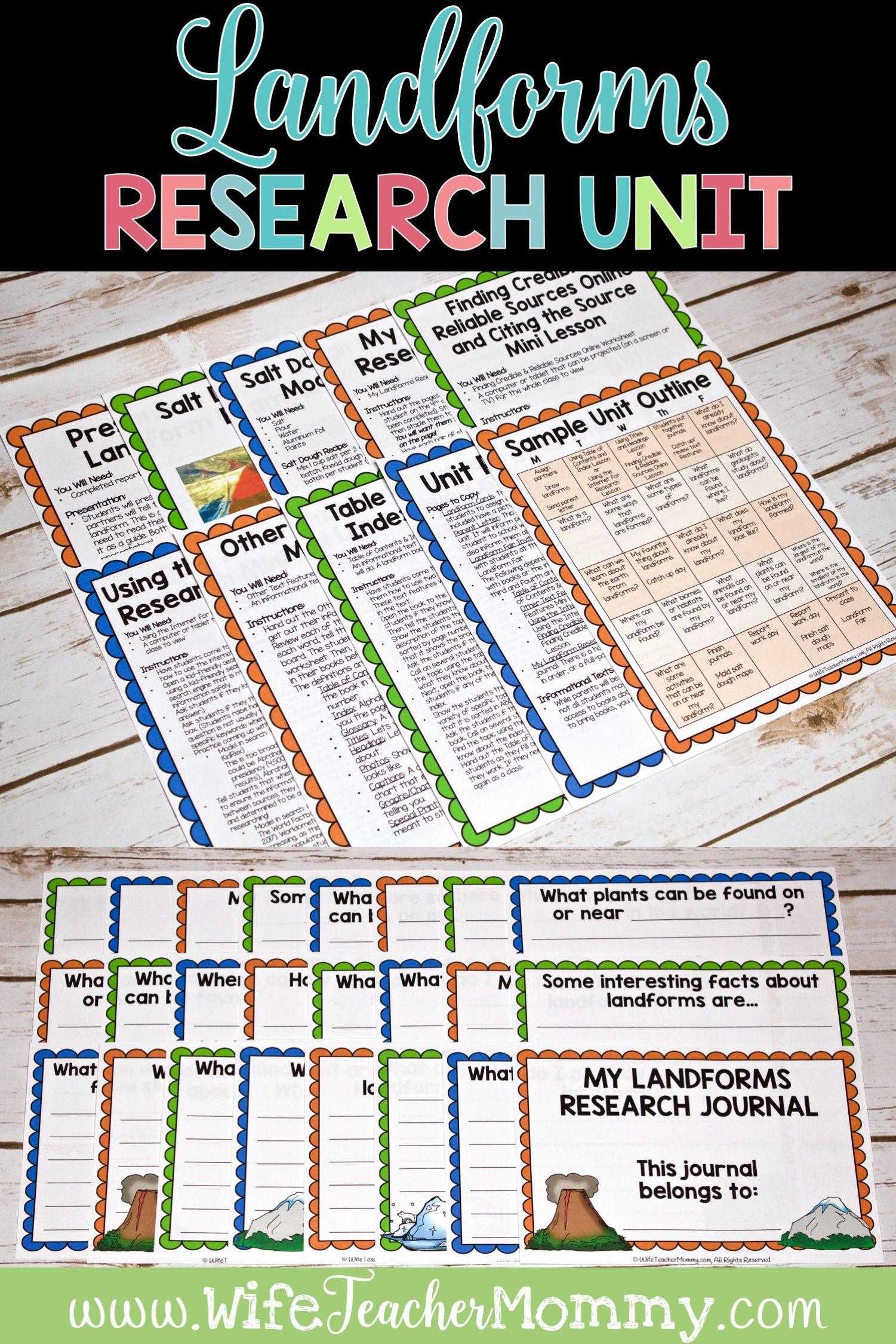 Landforms Research Unit Printable Bundle