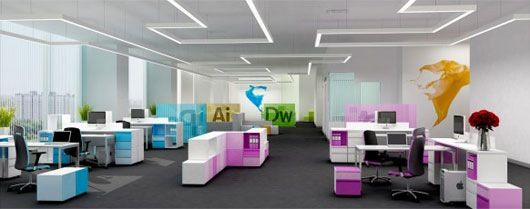 Awesome We Love This Beautiful, Funky And Colourful Office Furniture.