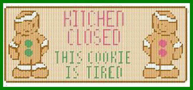Cute Kitchen Sign   Plastic canvas christmas, Plastic ...