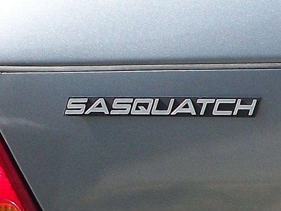 Sasquatch Custom Car Emblem on etsy    www etsy com/shop