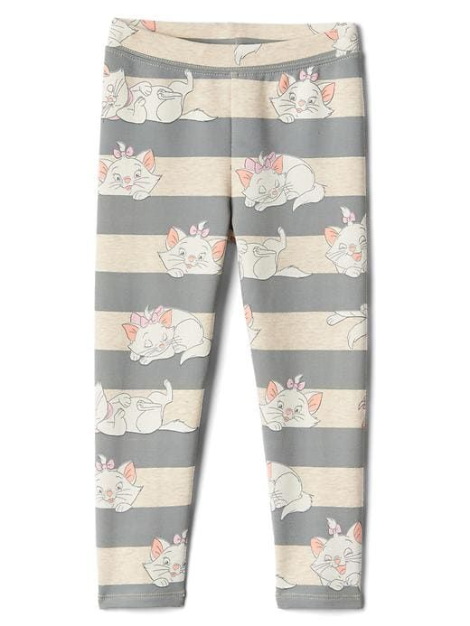 7409ed3254658 Gap Baby Babygap | Disney Baby Soft Terry Leggings Grey Stripe Cat ...