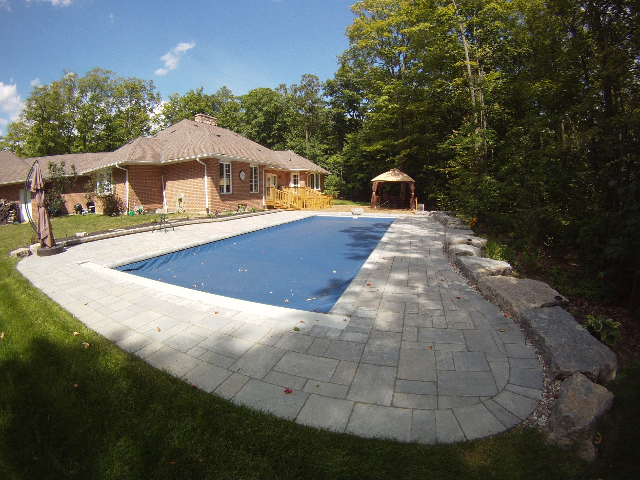 Goliath 1641 With Automatic Pool Cover Extended. Keep Your Fiberglass Pool  Safe, Clean And